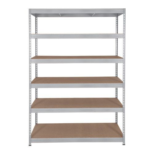Rapid 3 Shelving (2200h x 1500w) Galvanized - 6 Fibreboard Shelves