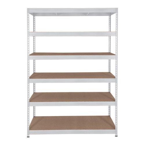 Rapid 3 Shelving (2200h x 1500w) Grey - 6 Fibreboard Shelves