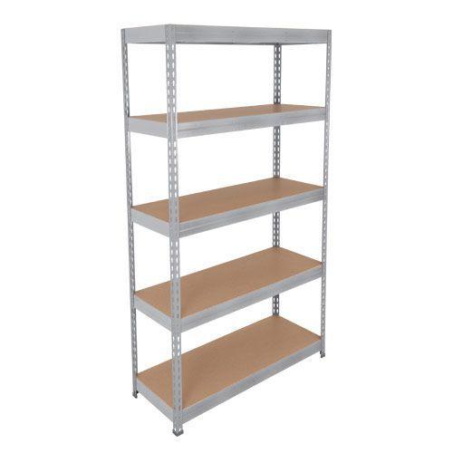 Rapid 3 Shelving (2400h x 1500w) Grey - 5 Fibreboard Shelves