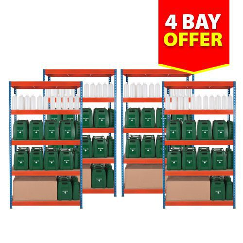 Rapid 3 Shelving 4 Bay Offer (1800h x 1200w)