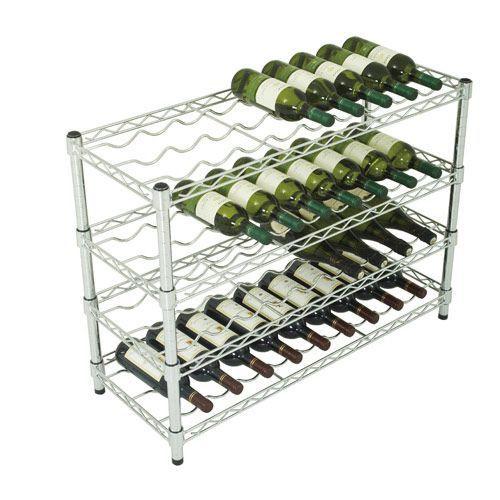 Chrome Wine Rack (660h x 915w) For 36 Bottles