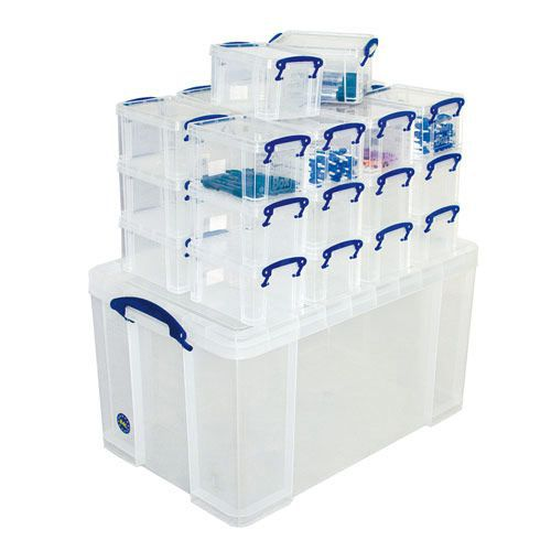 Really Useful Boxes Combo 1 x 84ltr and 26 x 1.6ltr