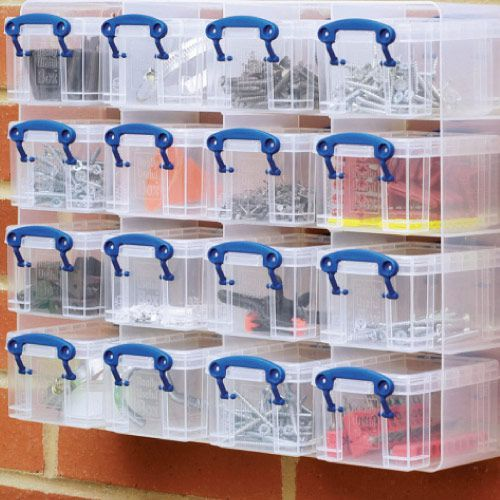 Really Useful Small Parts Storage Unit with 16 Boxes