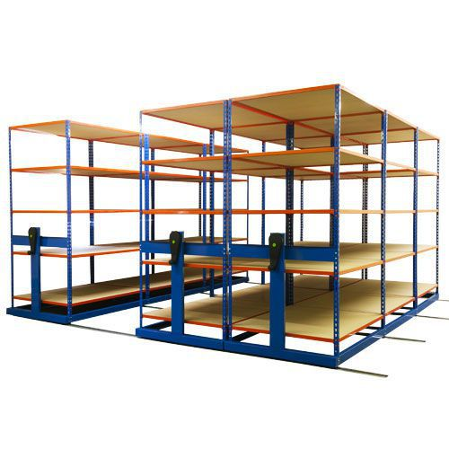 Rapid Mobile Shelving System With 4 Bays Of Rapid 2 (2010h x 3054w x 2440d)