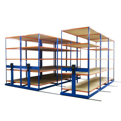 Rapid Mobile Shelving System With 6 Bays Of Rapid 2 (2010h x 4000w x 2440d)