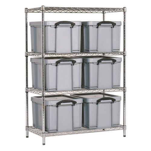 Chrome Shelving - 6 Really Useful Storage Boxes