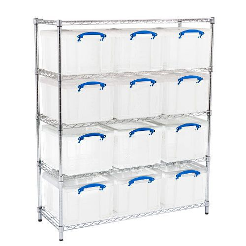 Chrome Shelving - 12 Really Useful Storage Boxes