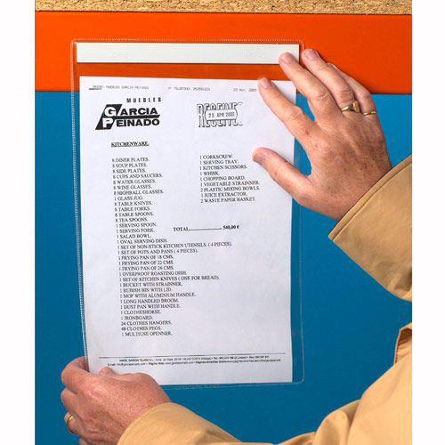 Self Adhesive Plastic Document Holder
