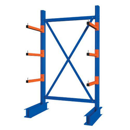 Heavy Duty Single Sided Cantilever Racking - 3000 x 1500 Starter Bay