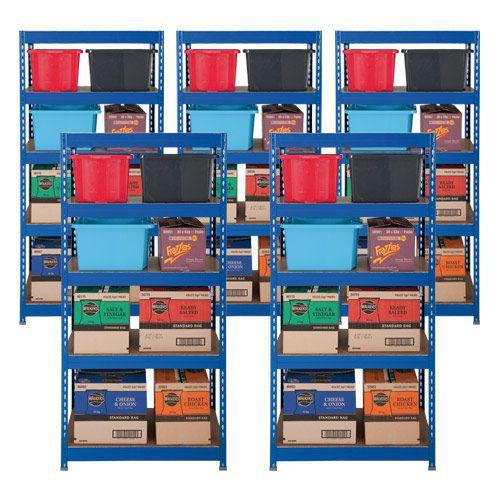 5 Budget Shelving Bays Offer - Blue