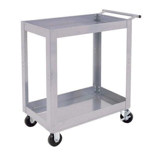 Silver Range 2 Shelf Trolley