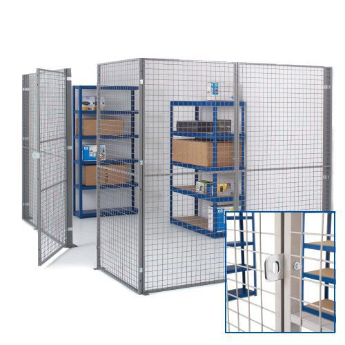 Industrial Mesh Partitioning - Doors with Padlock Bracket