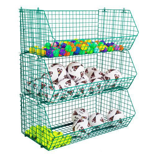 Large Wire Mesh Storage Baskets (120kg Capacity)