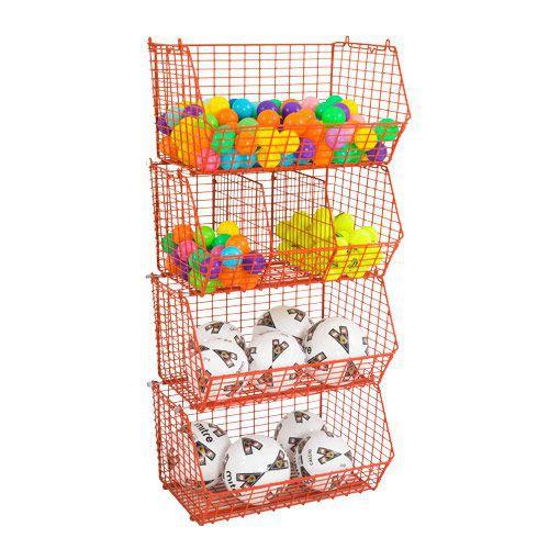 Wire Retail Storage Baskets (60kg Capacity)