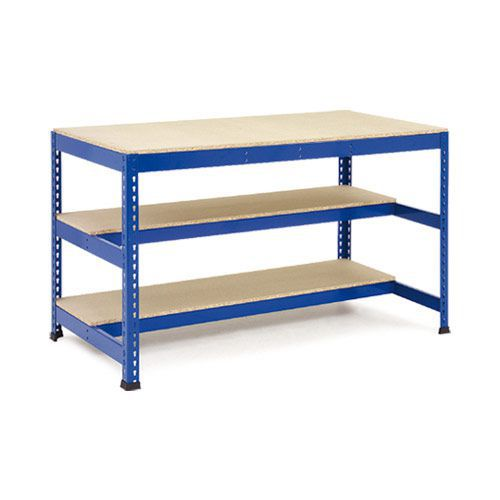 Rapid 1 - Heavy Duty Workbench (2440w) with Two Lower Half Shelves