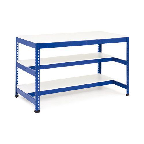 Rapid 1 - Heavy Duty Workbench (1830w) with Two Half Shelves