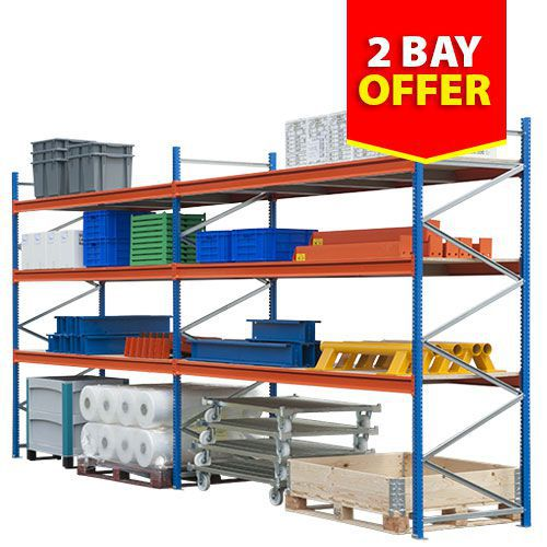 2 Bay (2500h) Wide Span Shelving Offer