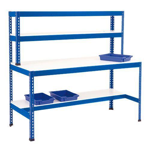 Rapid 1 Heavy Duty Workstation (2440w) with Half Lower Shelf