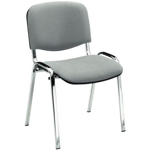Blackburn Stackable Meeting Room Chair - Chrome - Manutan