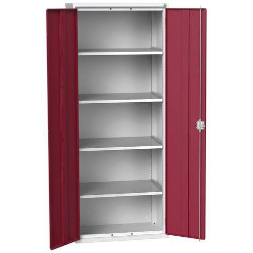 Bott Verso 4 Shelf Metal Storage Cupboard HxW 2000x800mm