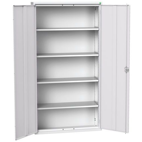 Bott Verso 4 Shelf Metal Storage Cupboard HxW 2000x1050mm