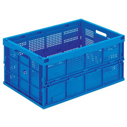 Blue Folding Euro Containers - 60L to 68L