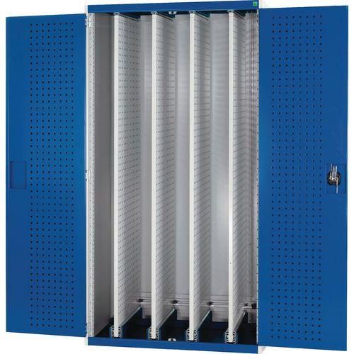 Bott Cubio Tool Cupboard With 4 Perfo Storage Sliding Panels WxD 1050x650mm