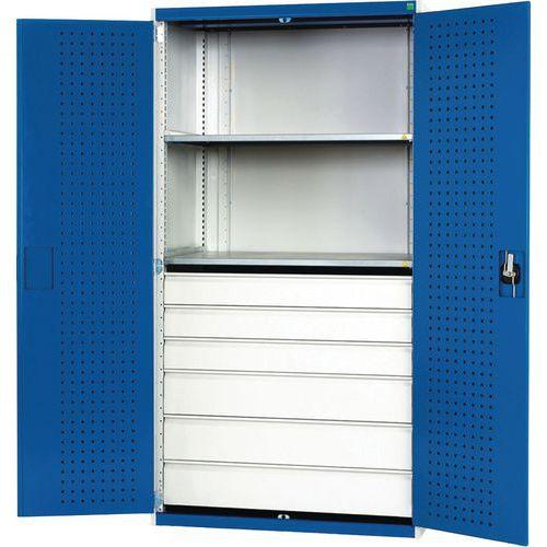Bott Cubio Metal Multi Shelf/Drawer Tool Storage Cupboard. WxD 1050x650mm