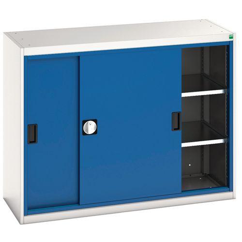 Bott Verso Sliding Door Metal Storage Cupboard WxD 1300x550mm