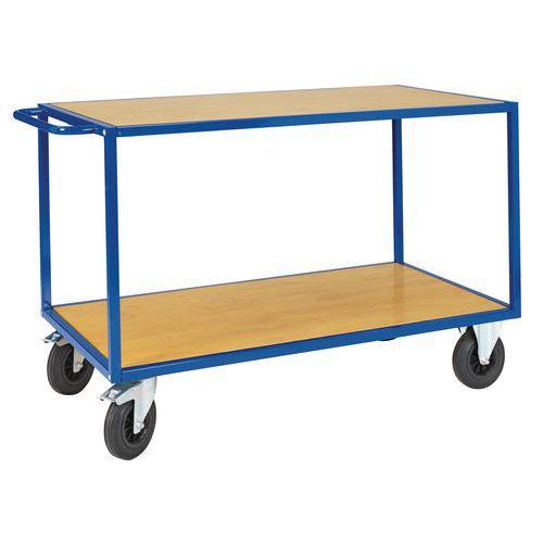 Wooden Table Trolley - 2 Sheves - 500kg