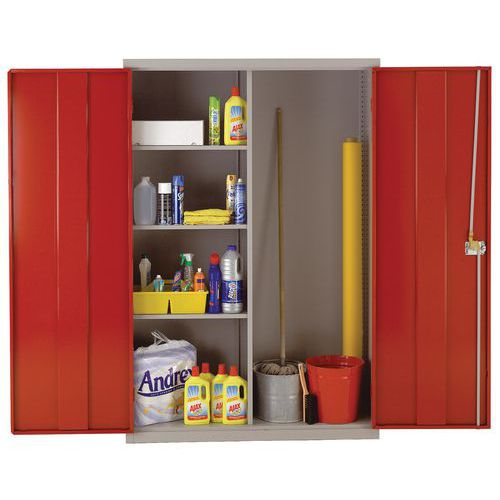 Large Metal Cleaning Cabinet with Antibacterial Technology