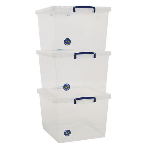 Really Useful Nestable Boxes 33.5L - Pack of 3