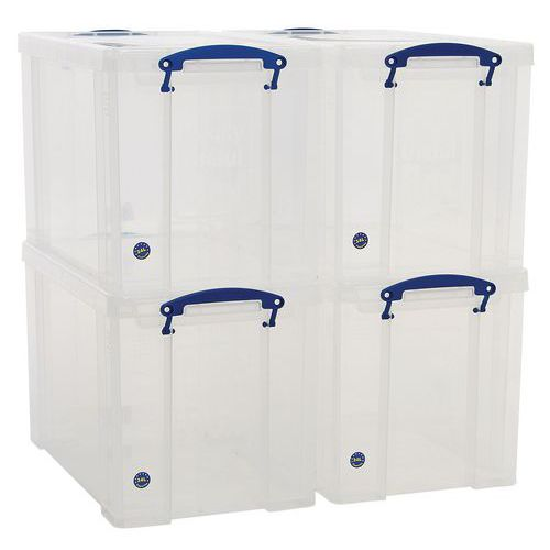 24 L Clear Really Useful Box Pack of 4