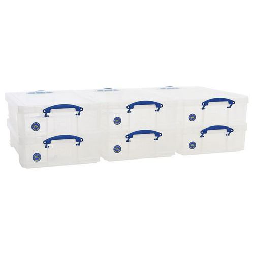 33 L Clear Really Useful Box Pack of 6