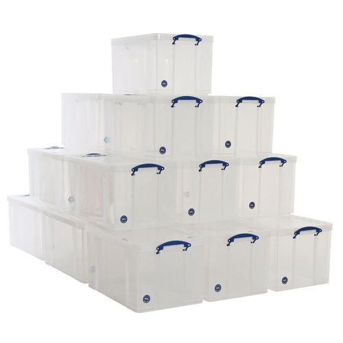 84 L Clear Really Useful Box Pallet Buy of 20