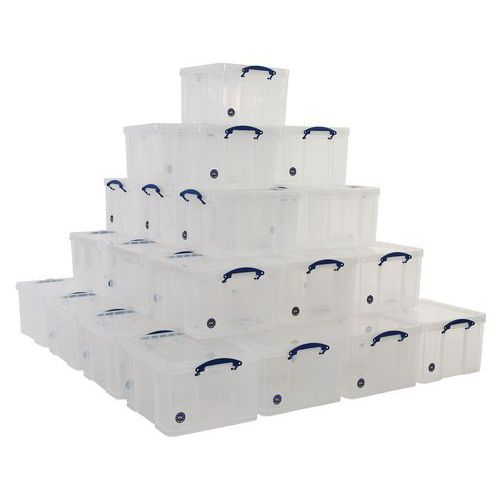 42 L Clear Really Useful Box Pallet Buy of 36