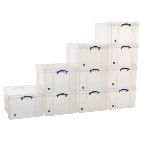 145 L Clear Really Useful Box Pallet Buy of 10