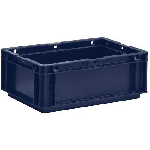 European-standard food container - Solid sides and solid base - Manutan