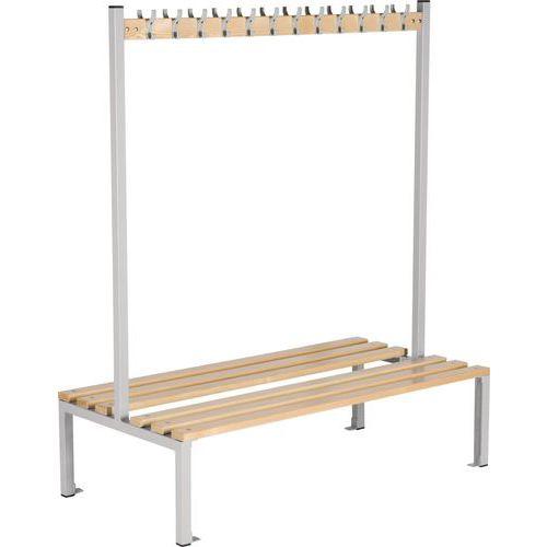 Double-sided Storage Bench. 1800mm Coat Hook Rack. Shoe Storage Option
