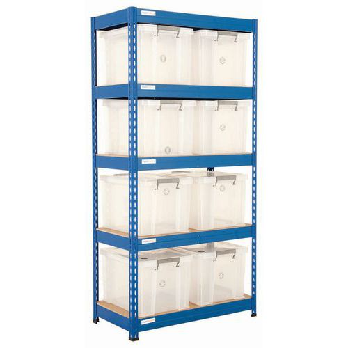 Rapid 3 bay with 8 x 36ltr Allstore boxes