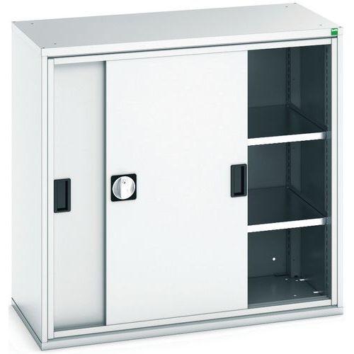 Bott Verso Sliding Door Metal Storage Cupboard WxD 1050x550mm