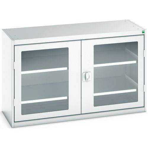Bott Verso Vision Door Metal Storage Cupboard WxD 1300x550mm