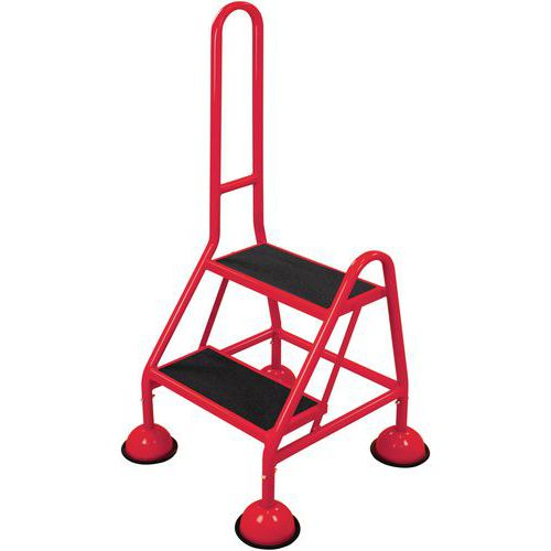 Mobile Warehouse Step Ladders With Handle And Anti-Slip Steps