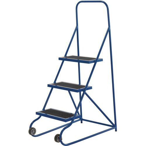 Warehouse Step Ladders With Tilt-And-Pull System