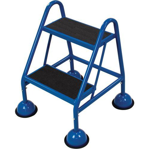 Mobile Step Ladder With Two Anti-Slip Steps