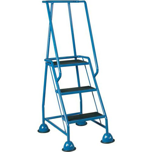 Mobile Warehouse Step Ladders With Ribbed Rubber Steps And Domed Feet