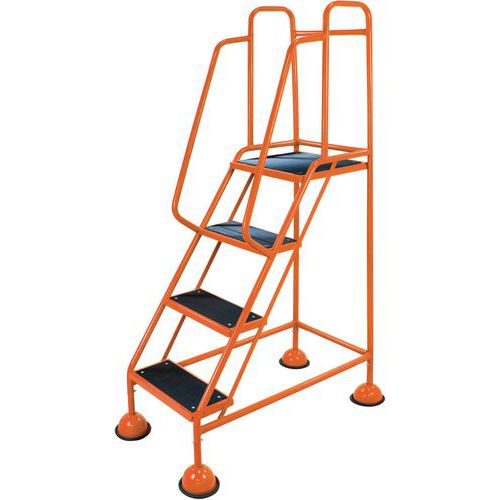 Mobile Step Ladders. Domed Feet And Big Rubber Steps. Classic Plus