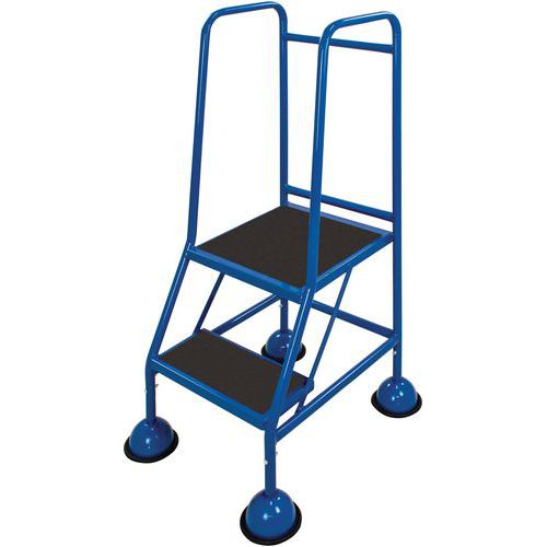Mobile Anti-Slip Step Ladders With Domed Feet - Large Classic Plus