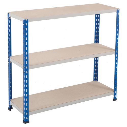 Rapid 1 BlueGrey Shelving with 3 Chipboard Shelves (1830wx610d)