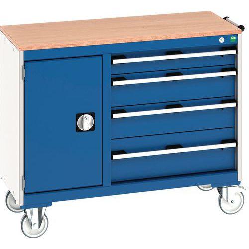 Bott Cubio Mobile Multi Drawer 60/40 Tool Storage Cupboard 890x1050mm